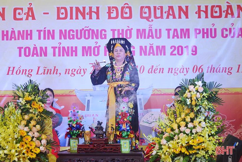 Đặc sắc lễ hội Đền Cả - Dinh đô Quan Hoàng Mười ở thị xã Hồng Lĩnh
