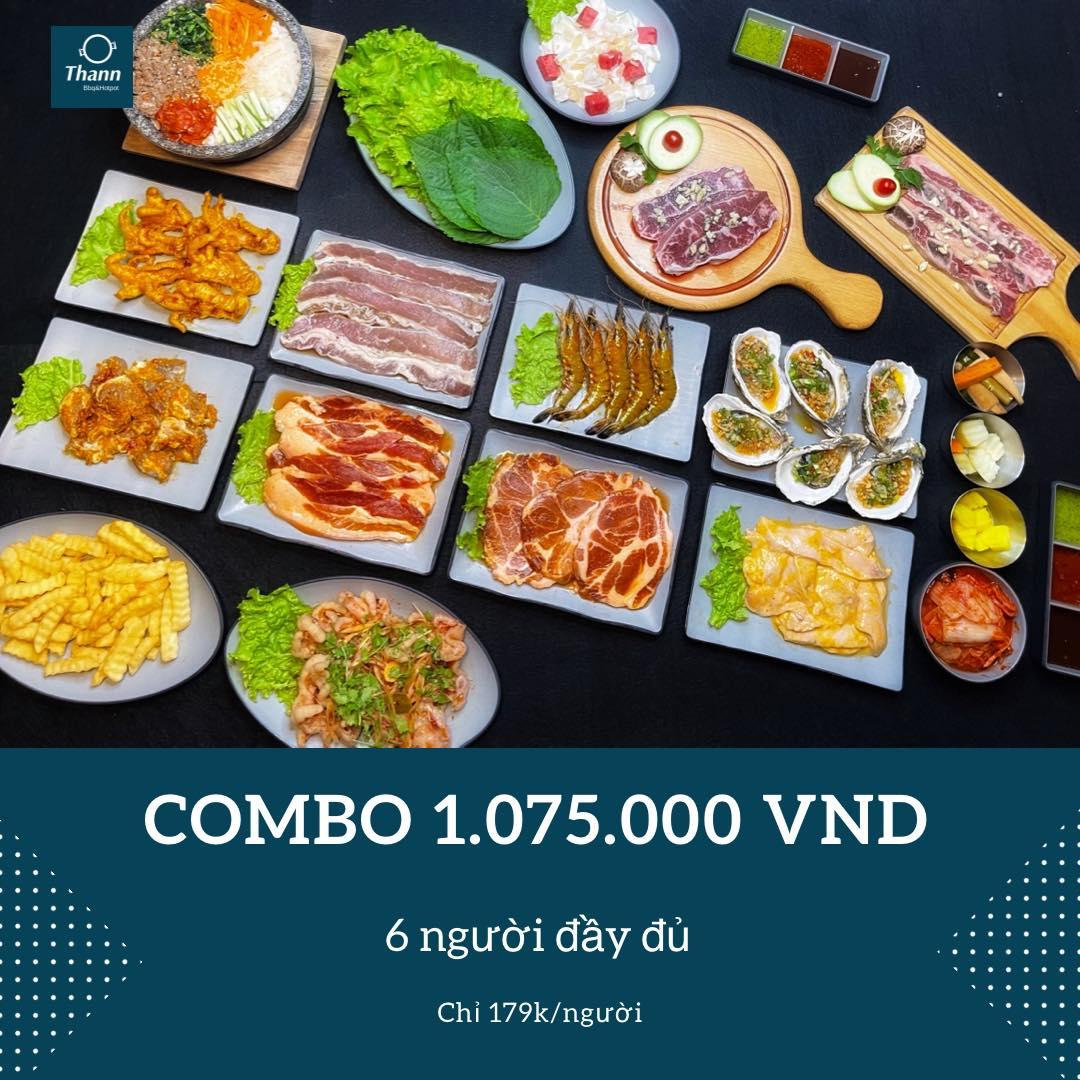 Combo 1075k - 6 người đầy đủ