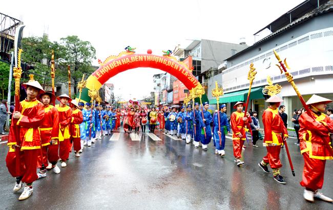 Festival of Temple Ha, Thuong Temple, Temple Ỷ la