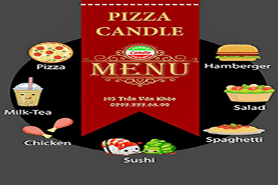 Pizza Candle